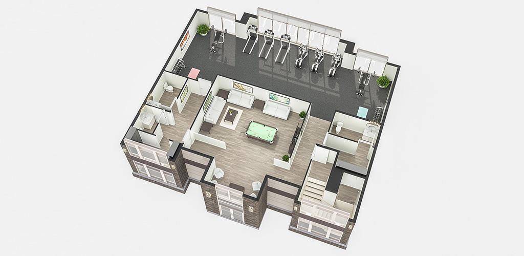 Clubhouse Floor